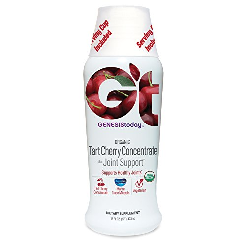 Natural Resveratrol Liquid Concentrate (Genesis Today Organic Tart Cherry Concentrate Plus Joint Support, 16oz)