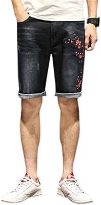 QZH.DUAO Mens Ripped Distressed Jean Shorts