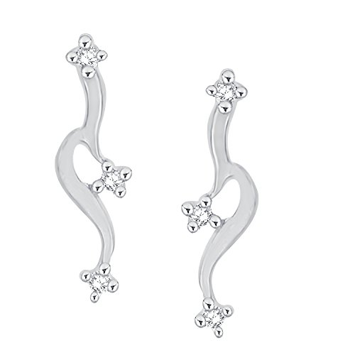 Giantti 14 carats Diamant pour femme Dangler Boucles d'oreilles (0.034 CT, VS/Si-clarity, Gh-colour)