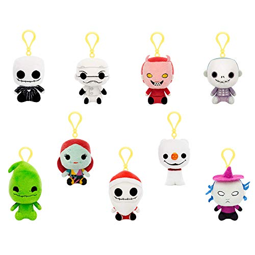 Funko Nightmare Before Christmas - One Mystery Blind Bag Keychain Plush, Multicolor ()