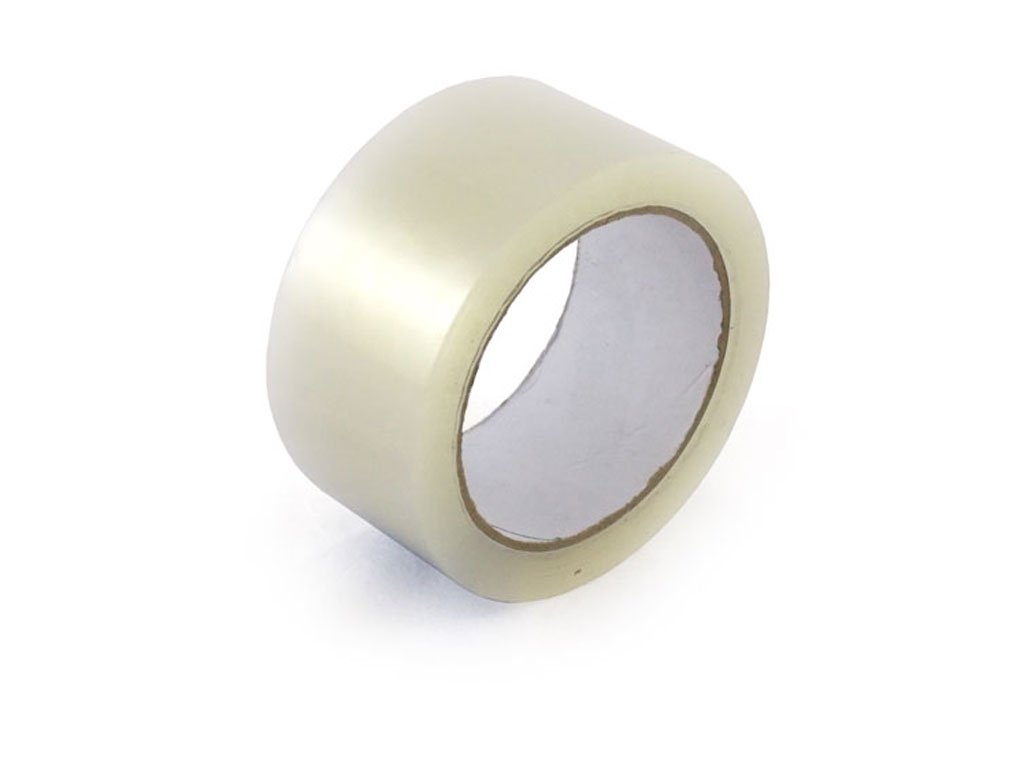 CLEAR PACKING PARCEL TAPE - 48mm x 66m - 36 ROLLS PACKAGING AND DISPOSABLES