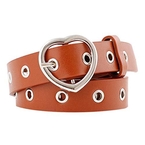 Men Belts Leather Big And Tall,Women Ladies Vintage Heart Buckle Leisure Leather Belt Trouser Accessories,Men's Accessories,Khaki,2019 Clearance Sale