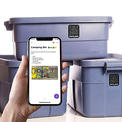 Outlinx Smart Stickers | Easy-to-Use Storage and Organization Labels | for Easier Move, Clutter Removal, Inventory Management, and Much More | Free App Membership Included | for Home and Business