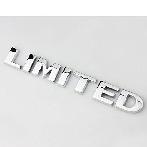 LZLRUN Car Metal Stickers 4x4 Limited Emblem Decals for Jeep Trucks Off-road SUV Car Body Sticker (Silver Limited)