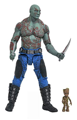 DIAMOND SELECT TOYS Marvel Select Guardians of The Galaxy 2 Drax & Baby Groot Action ()