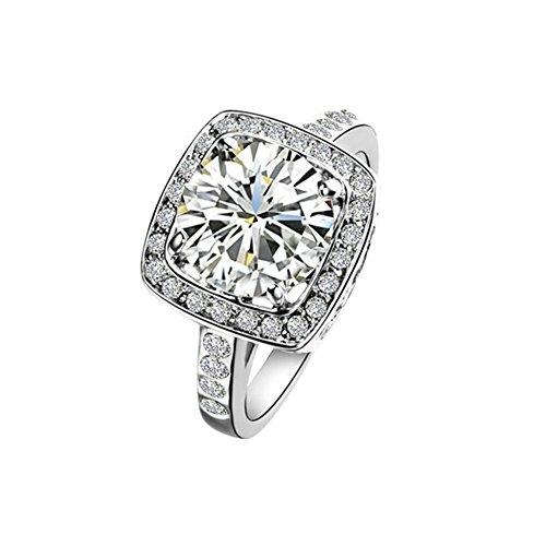 Amazon #LightningDeal 93% claimed: Yoursfs Gorgeous Crystal 18k White Gold Plated 1.5ct Emulational Diamond Ring