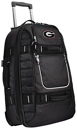 Small University of Georgia Carry-On Bag Wheeled Suitcase Luggage Bags by Broad Bay