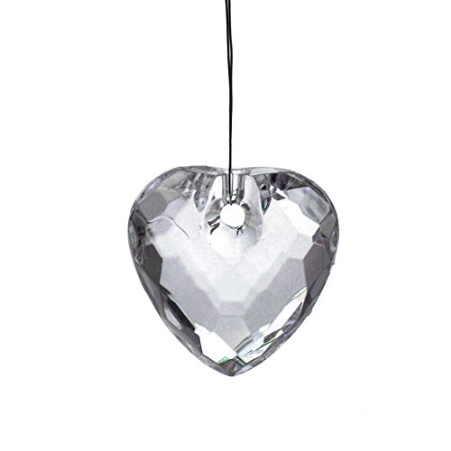 Homeford Acrylic Hanging Crystals, Star, Heart, (Glass Heart Drop)