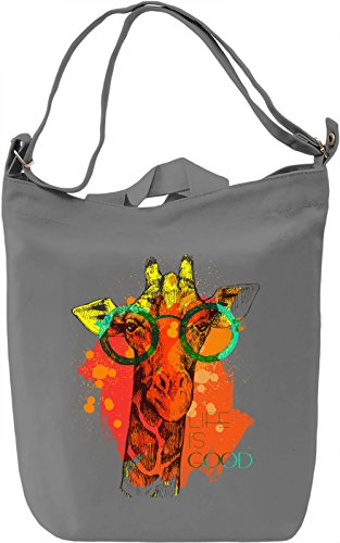 Life Is Good Borsa Giornaliera Canvas Canvas Day Bag| 100% Premium Cotton Canvas| DTG Printing|