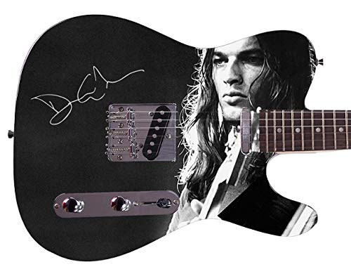 Pink Floyd David Gilmour Facsimile Signature Custom Graphics Guitar - Guitars