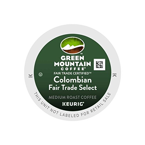 Country-like Mountain Coffee Fair Trade for Keurig Brewers - Colombian Select, 96 Count