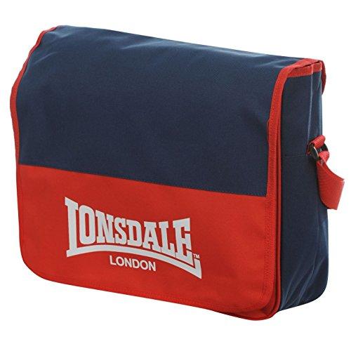 LONSDALE LONDON-Borsa Messenger, colore: rosso/blu Navy Flight-Borsa a tracolla