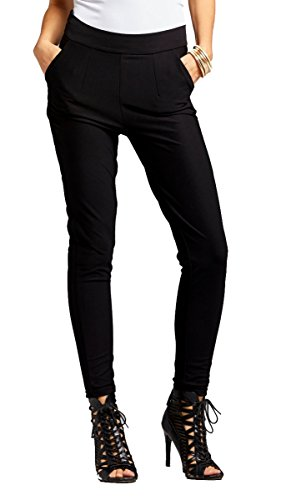 black stretch pants for women - 8