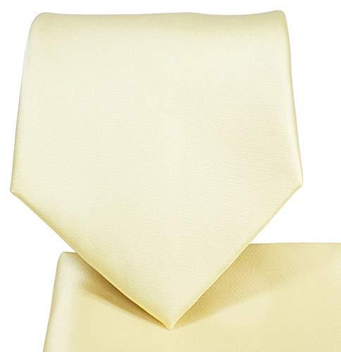 - Oliver George Solid Pattern NeckTie Set-Ivory