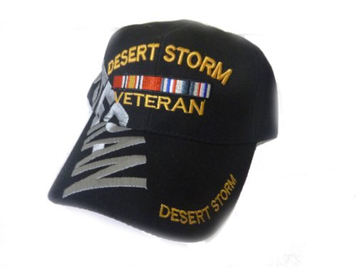- Desert Storm Veteran Baseball Cap BLACK Hat U.S. Army Air Force Marines Navy