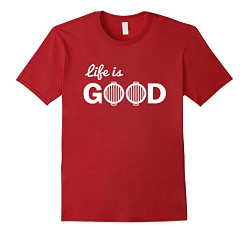 Mens Life Is Good Funny Grilling Grill Master T Shirt Gift 2XL Cranberry