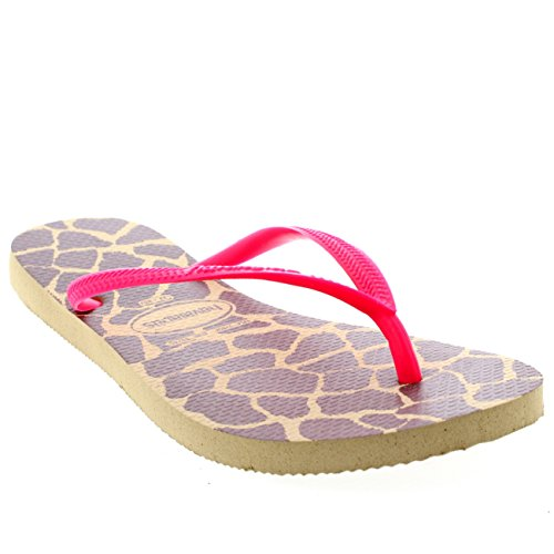 Tongs Eté Vacances Sandales Femmes Slim Rose Plat Animal Haviannas Plage Sable Gris w4Y7S