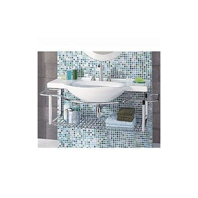 Riviera Bathroom Sink Wall-Mount Only with Integrated Towel Rack by Porcher