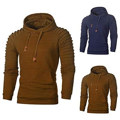 ZYAP Men Hoodie Solid Slim Hooded Sweatshirt Top Tee Outwear Blouse