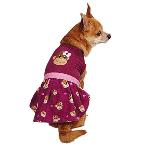 East Side Collection Monkey - East Side Collection ZM3488 06 14 Monkey Business Dress for Dogs, Teacup Tiff