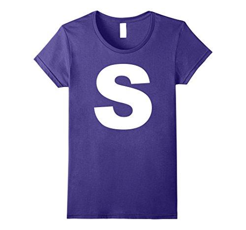 Inexpensive Last Minute Halloween Costumes (Womens Group Halloween Costume T-Shirt   S Shirt Large Purple)