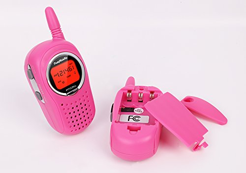 Walkie Talkies for Kids, 22 Channel FRS/GMRS Walkie Talkie 2 Way Radio 3 Miles UHF Walkie Talkies (1 Pair) Pink