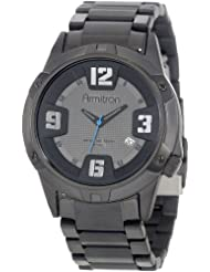 Armitron Mens 204692DGTI Black Ion-Plated Stainless Steel Bracelet Watch