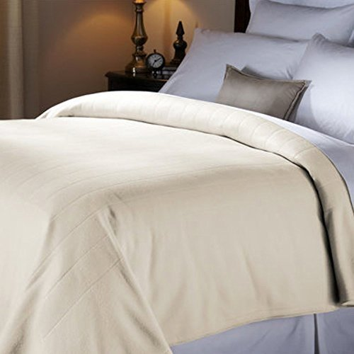 Sunbeam. Heated Quilted Fleece Electric Blanket ● Extra Soft ● FULL ● Seashell -  Sunbeam Products., 43237-2