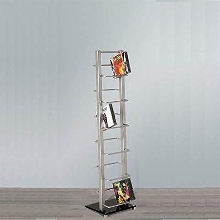 design cd stand cd rack lounge tower 92cm made of aluminium glass