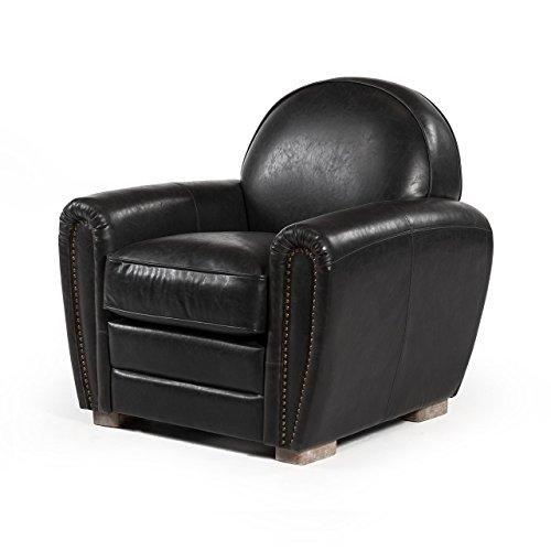 Paris Club Chair in Distressed Black - Chair Club Soho