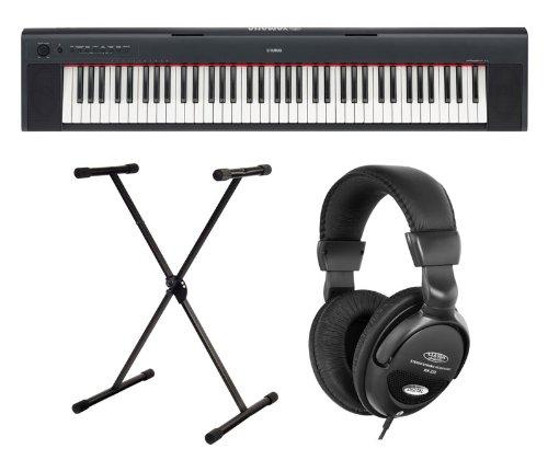 Yamaha NP-31 Stage Piano, Set inkl. Keyboardständer, Netzteil und Kopfhörer, Schwarz