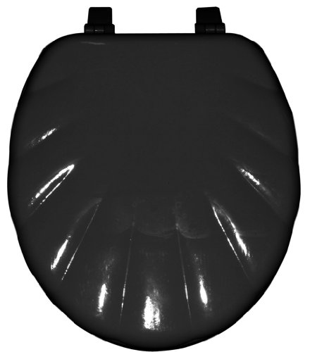 Home Dynamix TSP106-450 Painted Toilet Seat, 17-Inch, Black