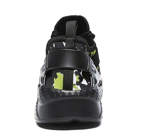 1763 Uomo Stringata Casual Donna Scarpe Sneaker da Basse all'Aperto Sport Interior 1nero Corsa XqPwXrUf