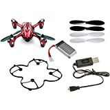 Hubsan X4 H107C Camera Quadcopter BNF with Extras (Red with Silver stripes)
