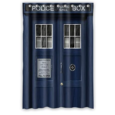 Scottshop Custom Doctor Who Tardis The Doctor Shower Curtain High Quality  Waterproof Polyester Fabric Bathroom Shower