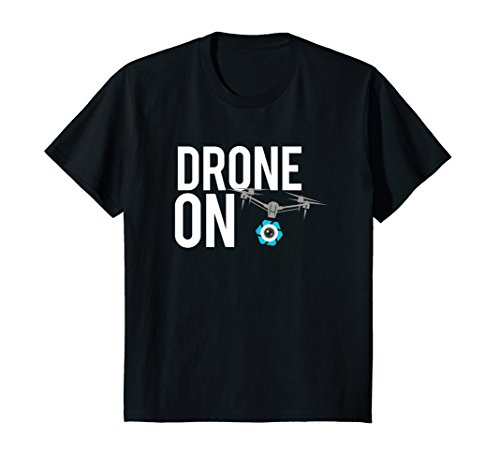 Price comparison product image Kids Drone On T Shirt for RC Drone with Camera UAS Pilot 8 Black