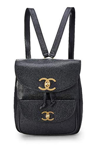CHANEL Black Caviar Backpack (Pre-Owned)