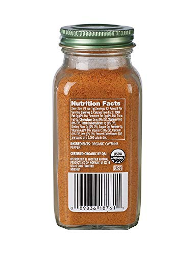 SJRXBWTS Cayenne Pepper Certified Organic, 2.89 oz Containers, 2 Pack by Simply Organic (Image #1)