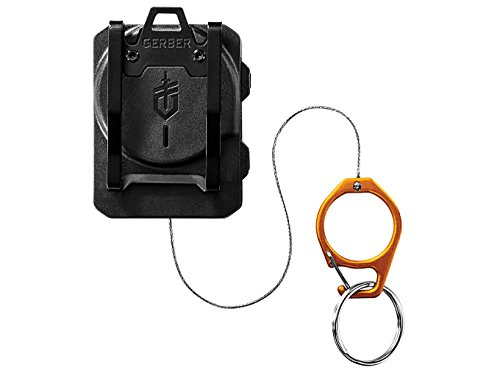 Gerber Defender Freshwater Retractable Fishing Lanyard Safety Tether with Carabiner for Fishing Boating Hiking Camping Hunting Tools - Large [31-003299]