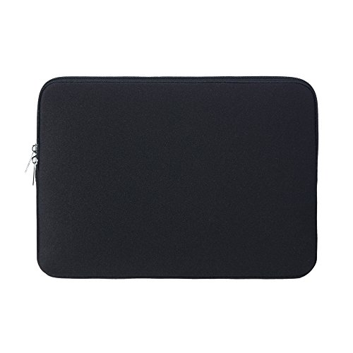 RAINYEAR 14 Inch Laptop Sleeve Case Protective Soft Padded Carrying Bag Zipper Cover for 14 Notebook Computer Chromebook Tablet Ultrabook of Dell HP ThinkPad Lenovo Asus Acer Toshiba(Black)