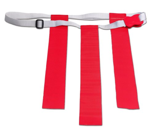 Champro A107 Flag Belts, 6 Package (Scarlet)