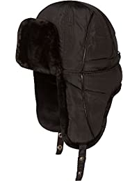 Sakkas Victor Adjustable Aviator Trapper Ushanka Hat Warm Faux Fur and Nylon