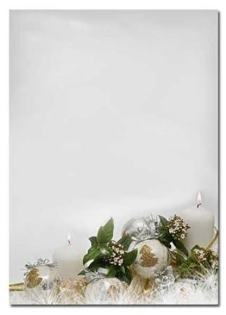 Motivpapier Weihnachten.Motivpapier Weihnachten Briefpapier Frohes Fest 50 Blatt Din A4