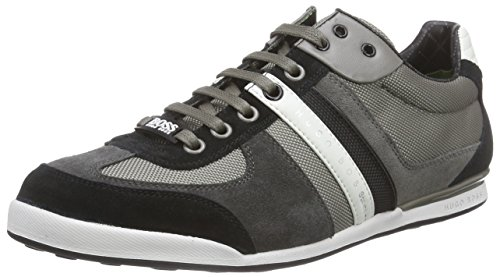 BOSS Athleisure Herren Akeen 10167168 01 Low-Top Grau (Medium Grey 030)