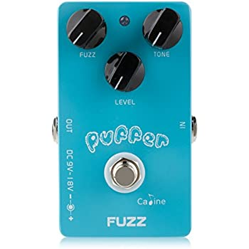 caline electric puffer fuzz effects guitar pedal with alumium alloy housing true. Black Bedroom Furniture Sets. Home Design Ideas