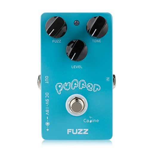 Fuzz Guitar Pedal (Caline Electric Puffer Fuzz Effects Guitar Pedal with Alumium Alloy Housing True Bypass CP-11)