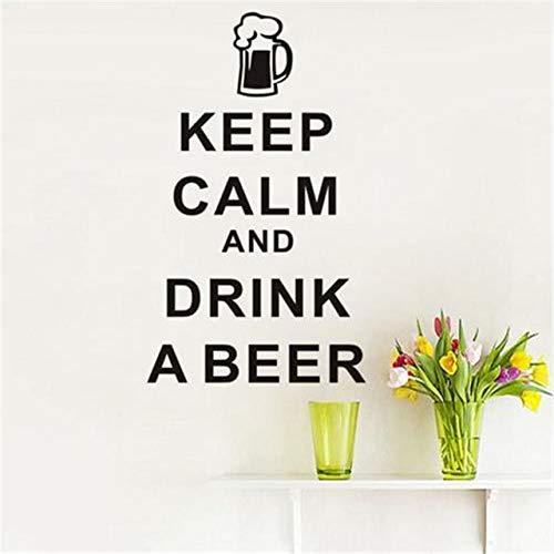 Size: 44x73cm Wall Stickers Keep Calm And Drink A Beer English Art Vinyl Removable Diy Home Decor Dining Room For Kitchen Wall Wallpaper Stycars®
