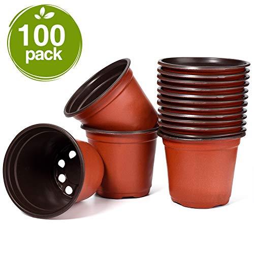 4in plastic pot - 5