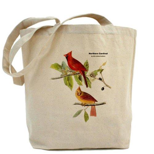 CafePress–Audubon pájaro cardenal del Norte–Gamuza de bolsa de lona bolsa, bolsa de la compra