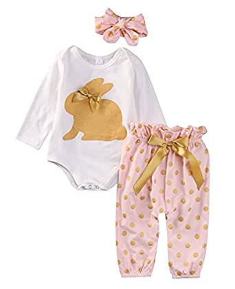 Amazon.com: ABEE Newborn Girls Clothes Baby Romper Outfit